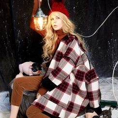 ELF SACK - Plaid Fleece-Lined Coat