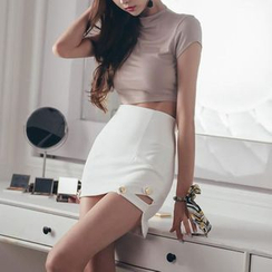 Jolly Club - Set: Cropped T-Shirt + Skirt