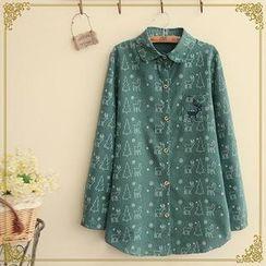 Rosadame - 鹿刺绣印花衬衫