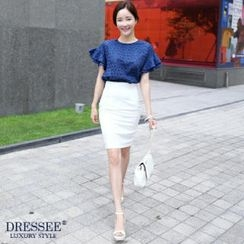 DRESSEE - High-Waist Pencil Skirt