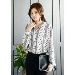 DEEPNY - Patterned Chiffon Blouse