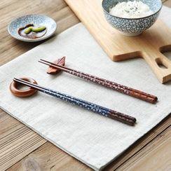 川島屋 - 印花木質筷子