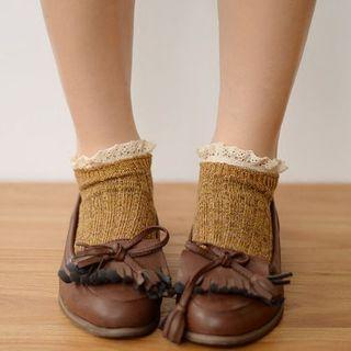 Fitight - Lace-Trim Knit Socks