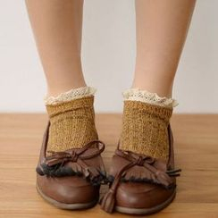 Fitight - Lace-Trim Knit Socks