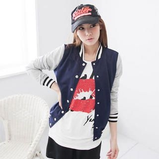 CatWorld - Color-Block Baseball Jacket
