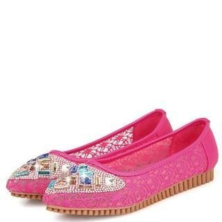 Pangmama - Jeweled Lace Flats