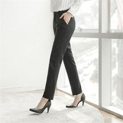 Styleberry - Flat-Front Tapered Pants