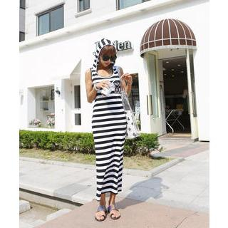 DANI LOVE - Sleeveless Hooded Stripe Maxi Dress