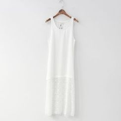 CERA - Lace Panel Slipdress