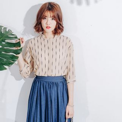Tokyo Fashion - 3/4-Sleeve Patterned Blouse