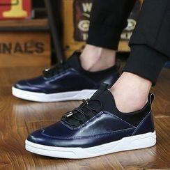 BINSHOU - Panel Leather Sneakers