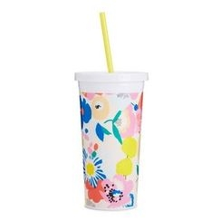LIFE STORY - Floral Tumbler with Straw