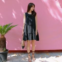 WITH IPUN - Sleeveless Tiered Dress