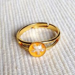 MyLittleThing - Resin Little Snowflake Ring (Light Orange)