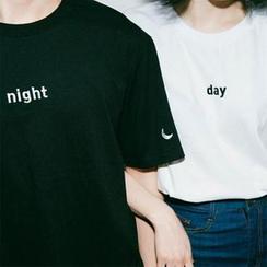 QZ Lady - Couple's Short-Sleeved Print T-Shirt