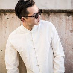 Ashen - Frog-Button Linen Shirt