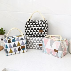 Lindo Bags - Triangle-Print Linen Lunch Bag