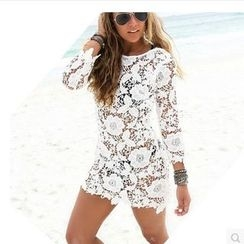 Fundae - Long-Sleeve Lace Cover-up