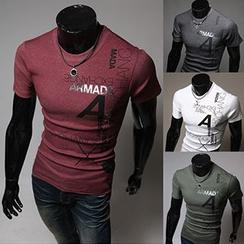 Fireon - Lettering Short-Sleeve T-Shirt