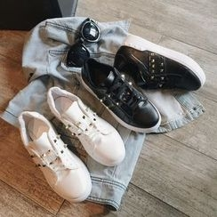 Hipsole - Faux-Leather Studded Sneakers