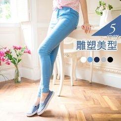 OrangeBear - Buttoned Skinny Jeans