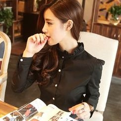 Jiuni - Frill Collar Shirt