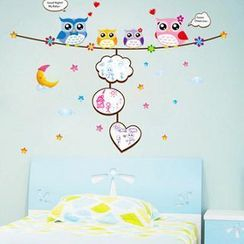 LESIGN - Owl Message Board Wall Sticker