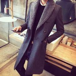 Bay Go Mall - Lapel Double-Breasted Coat