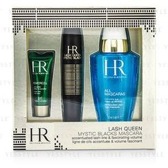 Helena Rubinstein 赫莲娜 - Lash Queen Mystic Blacks Mascara Set: Mascara 7ml/0.24oz + MakeUp Remover 50ml/1.69oz + Powercell 3ml/0.15oz