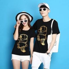Panna Cotta - Couple Matching Short-Sleeve Print T-Shirt