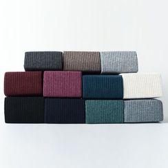 LA SHOP - Fleece Lined Ribbed Plain Tights
