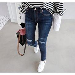 Miamasvin - Distressed Skinny Jeans