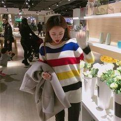 气质淑女 - 条纹毛衣