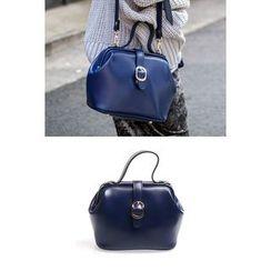 migunstyle - Buckled-Detail Shoulder Bag With Strap