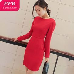 Eferu - Long-Sleeve Peplum Dress