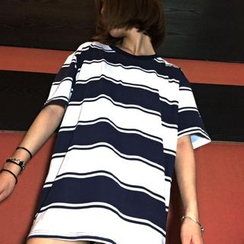 Cerauno - Striped Short Sleeve T-Shirt