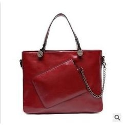 LineShow - Faux Leather Tote with Pouch