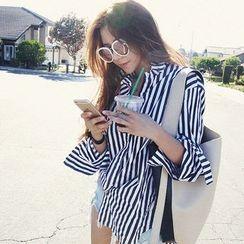 NANING9 - Cotton Stripe Shirt