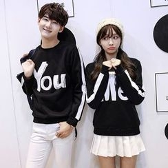 CASSY - Printed Couple Matching Pullover