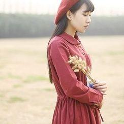 tete - 長袖腰抽繩連衣裙