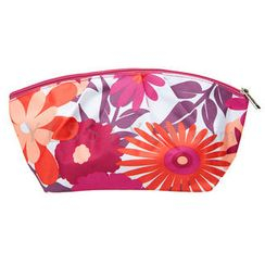 Clinique - Red Flower-Print Cosmetics Bag (Small)