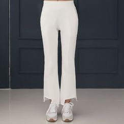 DANI LOVE - Fray-Hem Boot-Cut Sweat Pants
