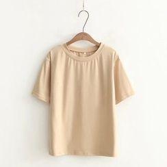 Tangi - Plain Short-Sleeve T-Shirt