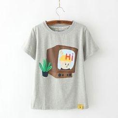 Tangi - Print Short-Sleeve T-Shirt