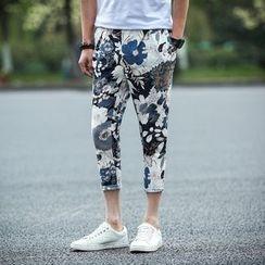 ZONZO - Cropped Floral Print Pants