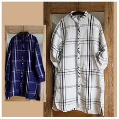 Rosadame - 格纹长款衬衫
