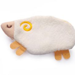 ioishop - Sheep Hand Warmer Pouch - White