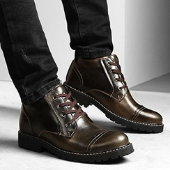 NOVO - Genuine Leather Lace Up Boots