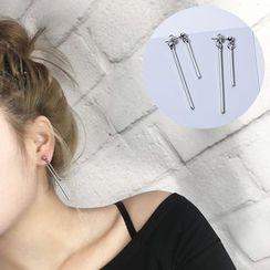 Wind Valley - Metal Bar Earrings