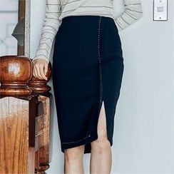 MAGJAY - Stitch-Detail Pencil Skirt